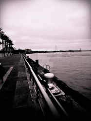 New Orleans Riverwalk:Black And White by Invader-Tak2015