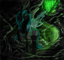 Queen Chrysalis by CometFire1990