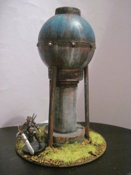 Water Tower miniature by TheBrave