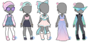 Oufit Adopts Set#1 (CLOSED) by LunaOfWater