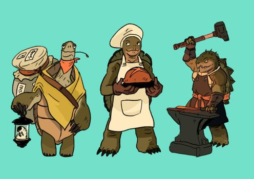 Tortoise Clan Folks by tohdraws