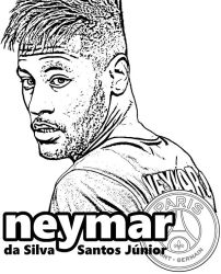 Neymar from Topcoloringpages.net by Topcoloringpages
