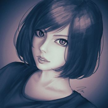 Girl Study by umigraphics