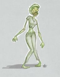020 - Female Zombie by thisisnotnoah