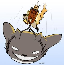 Rocketeer Lifts A Totoro by misterclayton