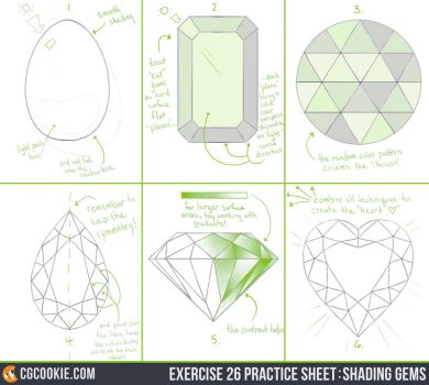 Exercise 26 Practice Sheet: Shading Gems by CGCookie