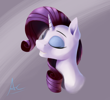Rarity Portrait by AC-whiteraven