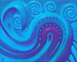Abstract blue by Acrylicdreams