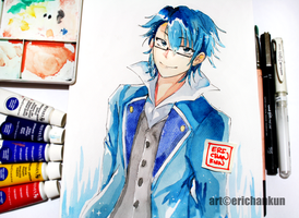 Saruhiko Fushimi (watercolor) by erichankun