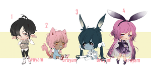 Small Cheeb Adoptables Set Price 1/4 OPEN by Brodoptable