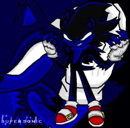 Dark Super Sonic by TrueblueSonic