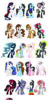 All my MLP OC's by M00nlightMagic
