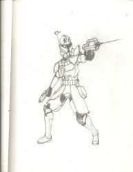 Star Wars: The Clone Wars: Captain Rex by Sable-The-Wolf