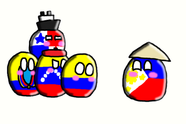 Gran Colombia countryballs meet Philippinesball by SprixieFan12345