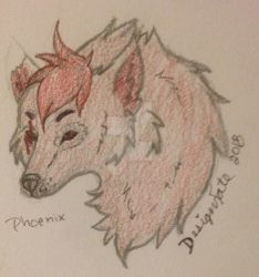 RP Character - Phoenix the Red Wolf by Design-Fate
