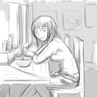 ramen (sketch) by A-Fistful-Of-Kittens