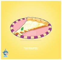 Kawaii Cheese Pizza Slice by KawaiiUniverseStudio