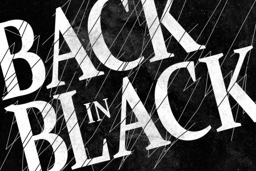 Back-in-black-typographic-rock-n-roll by eyesofthenorth