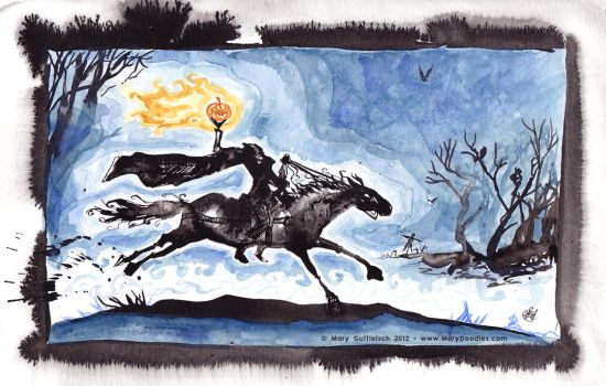The Headless Horseman by MaryDoodles