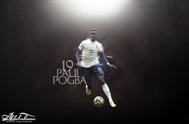 wallpaper paul pogba 2014 by Designer-Abdalrahman
