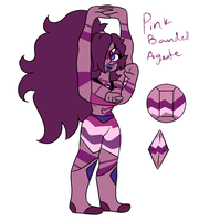 Pink banded agate by Amethyn