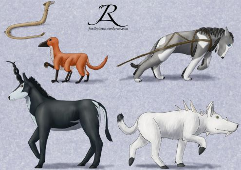Creature Drawings by Rebel-Rider