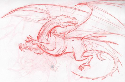 Sketch for wall painting by Dragonwinger