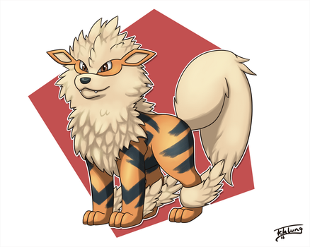 Day 19: Favorite Gen 1 - Arcanine by Fehlung