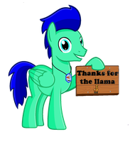 (Thanks for the llama) by blue5010