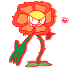 ~Cuphead Fanart~ Cagney Carnation by ColorfulCartoonz