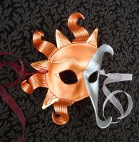Copper Sun And Moon Mask by merimask