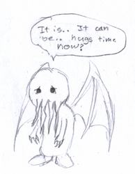 Baby Cthulhu - traditional by Xentalion