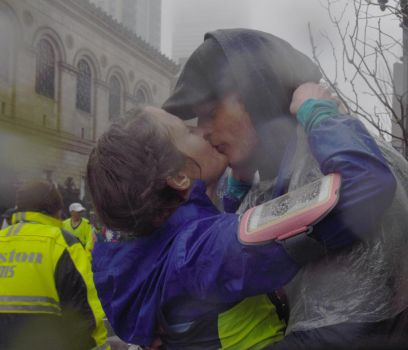 2018 Boston Marathon, Ending Kiss by Miss-Tbones