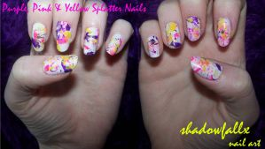 Splatter Nails by shadowfallx