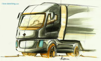 truck sketch markers by ecco666