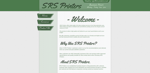 'SRS Printers' Website Design by Timmie56