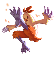 Combusken used Double Kick! by Saskle