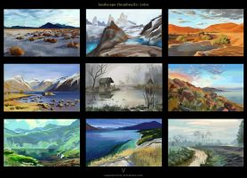 Landscape thumbnails in color by vertry