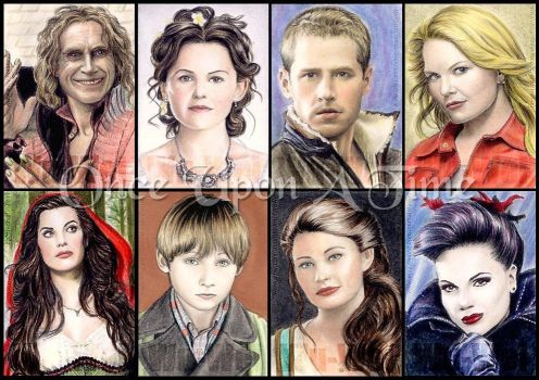 Once Upon A Time cards by whu-wei