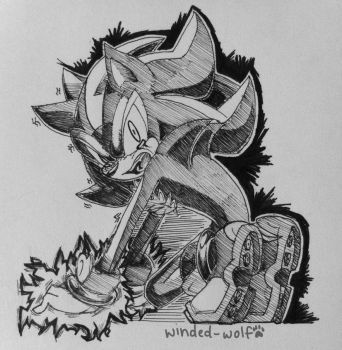 Inktober -- Shadow by winded-wolf