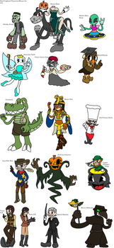 Cuphead bosses for sale by YingYangHeart