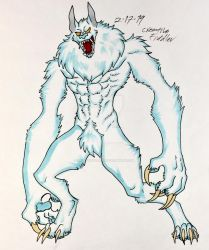 Ice Lycan by CreativeFiddler