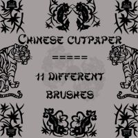 Chinese Cutpaper by rL-Brushes