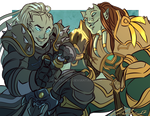 COMMISSION: Draenei Duo by Cat-Bat