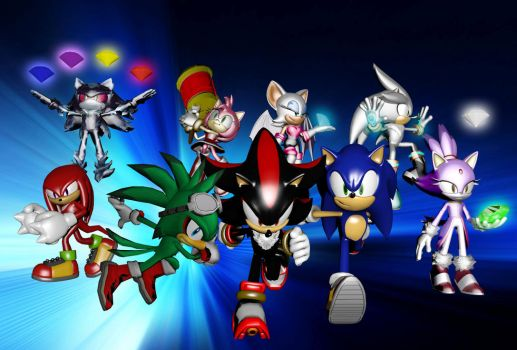 My own Sonic poster :) by TothViki