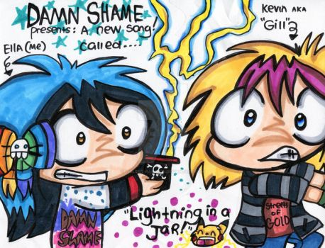 Damn Shame: Lightning In A Jar by Violent-Rainbow
