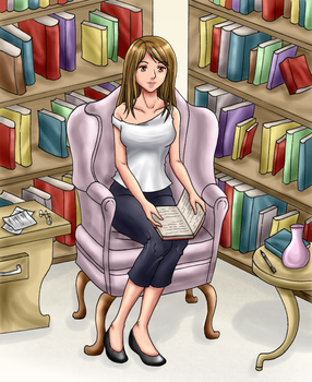 The Book Lover by chryztal