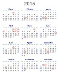 Calendario 2015 Argentina SVG by DaFeBa