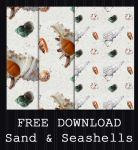 FREE DOWNLOAD - Sand + Seashells Pattern by PointyHat