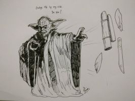 Yoda, drawn as part of daily sketch challenge by mrinal-rai